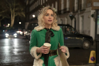 Emilia Clarke as Kate, the dysfunctional elf in Last Christmas.