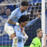 Late goals give 10-man Manchester City comeback win at Schalke