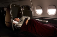 Qantas Skybed business class seat. Now phased out.