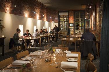 The dining room atSource Dining, Kyneton.