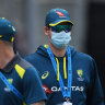 Steve Smith of Australia is seen wearing a face mask in the 2020 series.