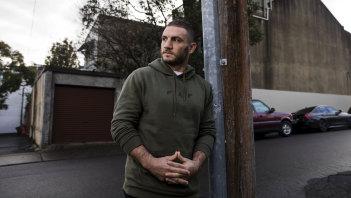 Back in Tiger Town: Robbie Farah on Darling Street in Rozelle this week.