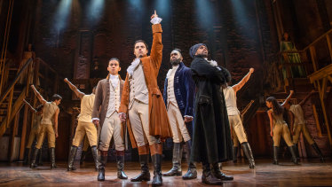 The Sydney production of Hamilton opens at the Lyric Theatre on March 27.