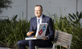Is Domino's chief executive Don Meij tucking into a slice of roast chicken and with Hokkaido camembert?