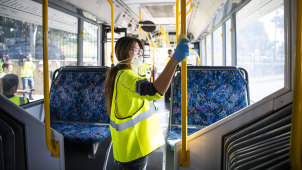 The NSW government hopes better cleaning of buses will convince the public they are safe to use.