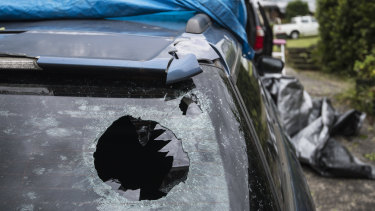 Two of Ms Street's cars were so badly damaged she believes they will both be write-offs.