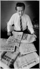 """Mr Wootten with Murdoch-owned papers. """"No other country would tolerate this degree of concentration."""""""