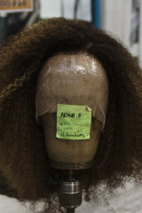 The wig to be worn by Akina Edmonds, who plays Angelica in the show, took more than 60 hours to make.