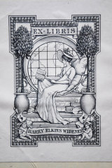 The bookplate (label) certifying this edition of Charles Dickens' American Notes was once owned by wealthy US collector Harry Elkins Widener, who died in the sinking of the Titanic.