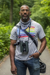 Christian Cooper in New York's Central Park on Wednesday.