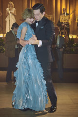 Diana and Charles played by Emma Corrin and Josh O'Connor in a scene from season four of The Crown.
