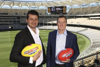 Andrew Embley and John Worsfold will present the Norm Smith Medal and Jock McHale Medal at the 2021 AFL grand final in Perth on September 25.