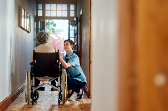 The waiting list for at-home care packages has consistently remained at about 100,000.