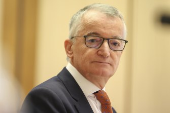 Australia Post chair Lucio Di Bartolomeo maintains that Ms Holgate agreed to stand aside for an investigation into the Cartier watches on the afternoon of October 22.