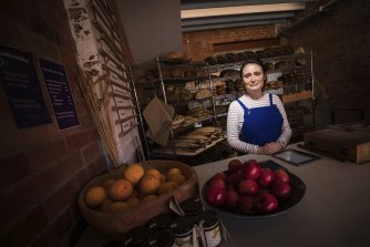Baker Bleu co-owner Mia Russell installed plastic screens at her Caulfield North bakery to protect staff and customers. But she recently removed the barriers because she was concerned it was making it hard for people to communicate.