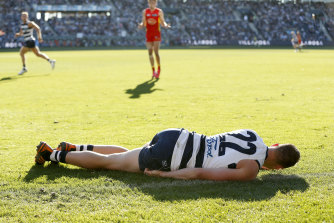 Mitch Duncan suffered a concussion after a heavy tackle in round 10.