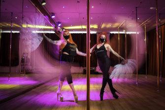 Co-directors of Bottoms-Up Dance, Amanda Miller (left) and Jacquie Thomas.
