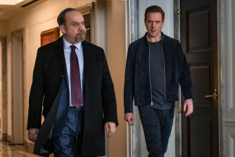 "Chuck Rhoades (Paul Giamatti)  and Bobby ""Axe"" Axelrod (Damian Lewis) are the ""good"" and ""bad"" guys in Billions."