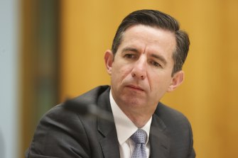 Numerous politicians and diplomats including Finance Minister Simon Birmingham received messages asking them to verify Telegram.