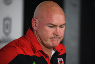Coach Paul McGregor faces an uncertain future after another dismal Dragons display.