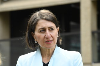 NSW Premier Gladys Berejiklian says that from Friday businesses will revert to the two-square metre rule both indoors and outdoors.