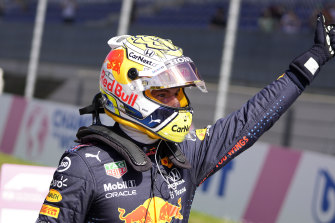 Max Verstappen qualified on pole.