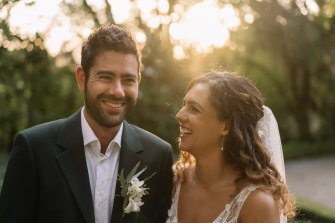 Jonathan and Karen Seidler married at a friend's house with just 10 guests.