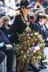 Lord Mayor Clover Moore, woman in black.