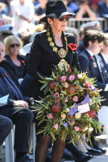 Lord Mayor Clover Moore, woman in black.