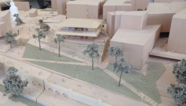 An architectural model created for the proposed Apple shop.