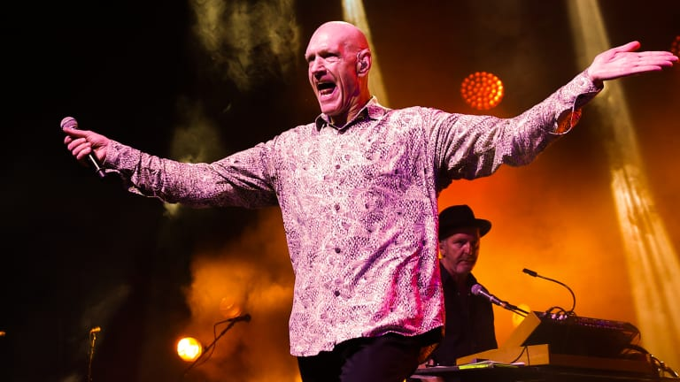 Peter Garrett of Midnight Oil remains a firebrand on stage.