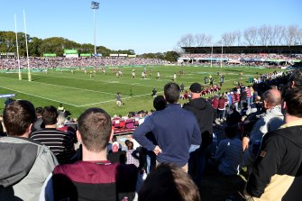 Manly's Lottoland stadium is one of four venues set to be prioritised by the NRL following the NSW government's backdown on the ANZ Stadium rebuild.