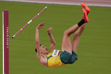 Brandon Starc finished fifth in the high jump.
