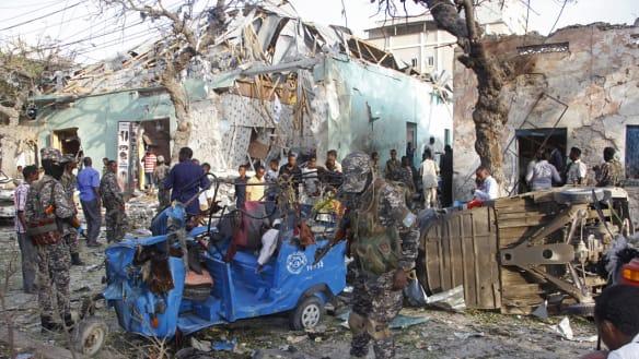 More than a dozen killed in suicide bomb attack on Somalia hotel