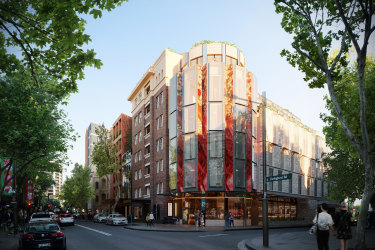 Renders of the proposed mixed-use development at18-32A Darlinghurst Road, Potts Point by Iris Capital and designed byTonkin Zulaikha Greer Architects and Panov Scott.