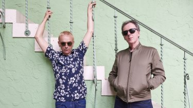 Underworld's  Karl Hyde (left) and Rick Smith.
