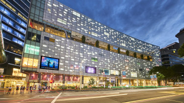 Lendlease's REIT in Singapore seeded with the 313@somerset shopping centre.