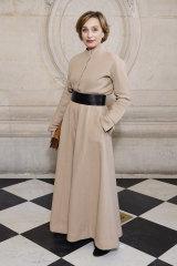 Kristin Scott Thomas attends the Dior Haute Couture Spring/Summer 2020 show as part of Paris Fashion Week 2020.