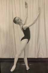 Claire Thomas at 17, around the time her ballet dreams came crashing down.