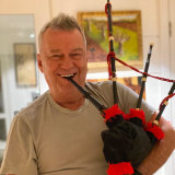 Jimmy Barnes has been learning the bagpipes in lockdown.