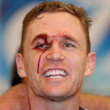 Joel Selwood sings the song after victory over the Eagles.