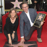 Laura and Michael Joplin attend the posthumous dedication of Janis Joplin's star on The Hollywood Walk Of Fame in 2013.
