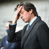 AFL chief Gillon McLachlan (pictured), along with Victorian Sports Minister Martin Pakula, announced that this year's grand final would be held in Perth.