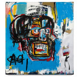 Jean-Michel Basquiat, Untitled 1982; oilstick, acrylic, and spray paint on canvas.