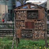 ''Insect hotels'' are common on public land throughout France. Here, one stands near a railway line, a few metres from the Seine River in Paris.