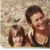 Amber Jackson with her mum at Amazon Acres as a child.