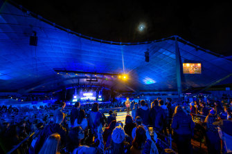 A keen audience watched some of Australia's nest acts at chilly Sidney Myer Music Bowl in Melbourne.