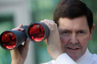 Growing up in Gippsland, the young Kevin Andrews had a keen interest in race calling.