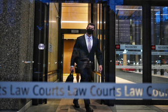 Ben Roberts-Smith leaves the Federal Court on Wednesday.