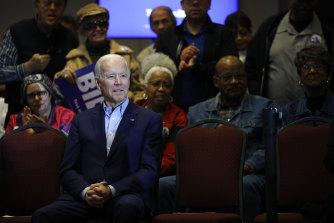 Democratic presidential candidate, former vice president Joe Biden.